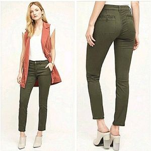 Anthropologie Hei Hei Abound Olive Green Pants 26